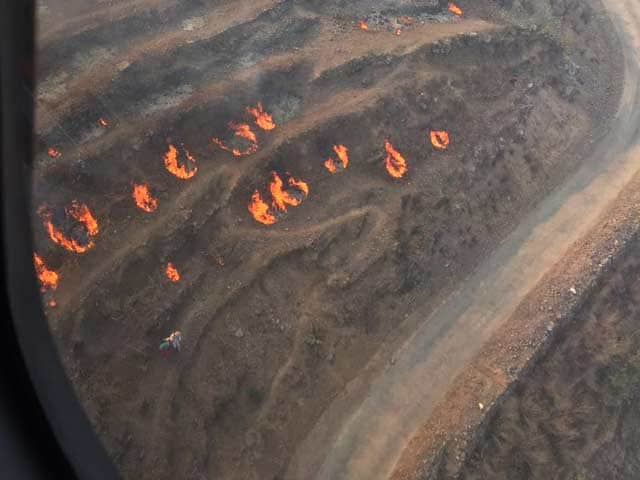 How Big Are Uttarakhand Fires? This Is Shot From A Helicopter
