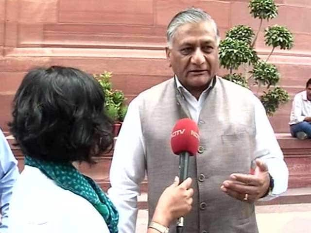 Video : Let Rahul Gandhi Play Victim, Says VK Singh On AgustaWestland Comments