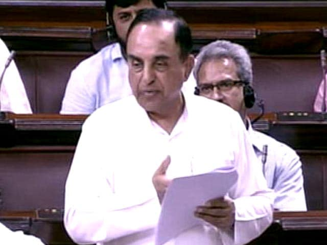 Video : With First Parliament Speech, Subramanian Swamy's Direct Hit At Sonia Gandhi
