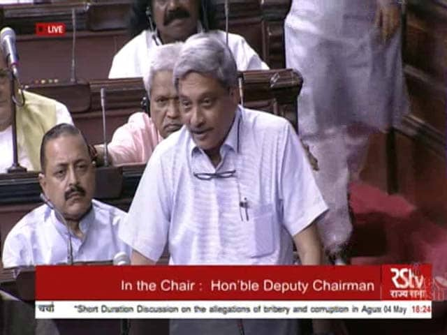 Video : Country Wants To Know Who Benefitted From Agusta Corruption, Says Parrikar