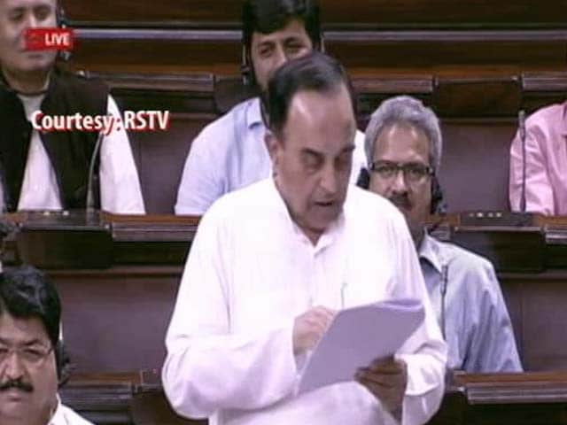 Video : Are Italians Crazy To Pay An AP Who's Not Ahmed Patel: Subramanian Swamy