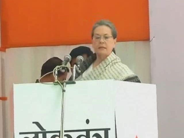 Video : 'Life Has Taught Me About Struggles': Sonia Gandhi Attacks PM Modi