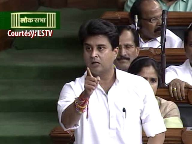 Video : Sonia a <i>Sherni</i>, BJP Afraid of Her, Says Jyotiraditya Scindia in Parliament