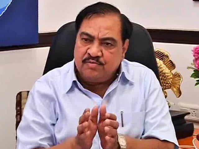 Video : 'Where Did They Get Dawood's Number?' Minister Eknath Khadse Asks AAP