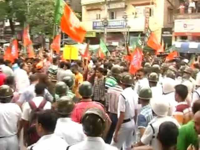 Video : BJP's Bid To March Towards Mamata Banerjee's Residence Foiled