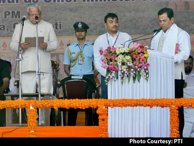 Video : Sarbananda Sonowal Takes Oath As Assam's Chief Minister