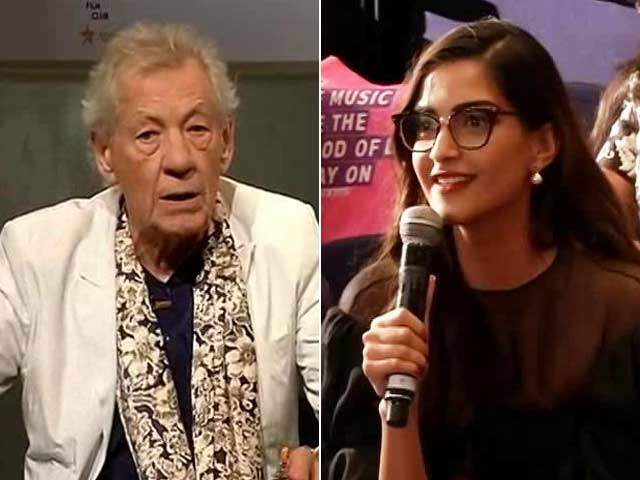 A Compliment For Sonam Kapoor From Ian McKellen