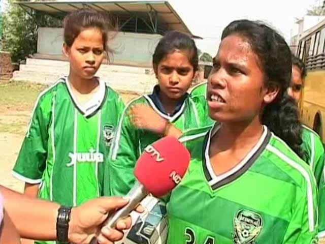 Video : With Football, A Girl From Jharkhand Scores A Goal In Denmark