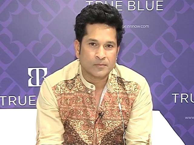 Video : Spent 24 Yrs Wearing Blue, My Fashion Brand Also Has Blue: Sachin