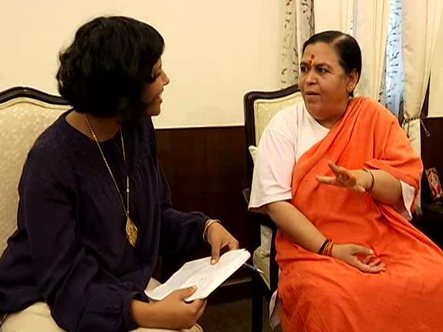 Video : Have Respect And Sympathy For Sonia Gandhi, Says Minister Uma Bharti