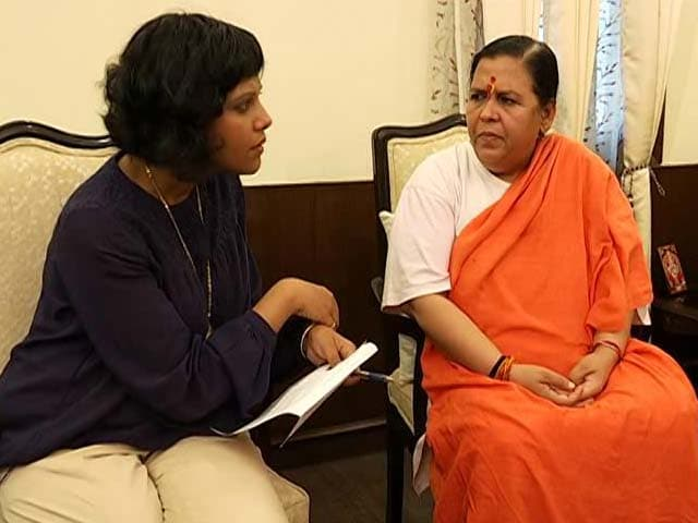 Video : Uma Bharti On UP Polls And Why She Can't Think Beyond Ganga