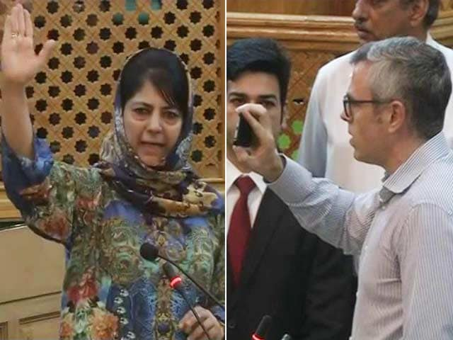 Video : Mehbooba-Omar Spat In Assembly Over Colony For Ex-Servicemen