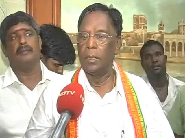Video : V Narayanasamy Sworn-In As Puducherry Chief Minister