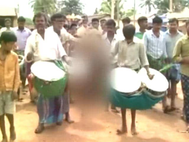 Video : Boy Paraded Naked During Ritual For Rain In Drought-Hit Karnataka Village