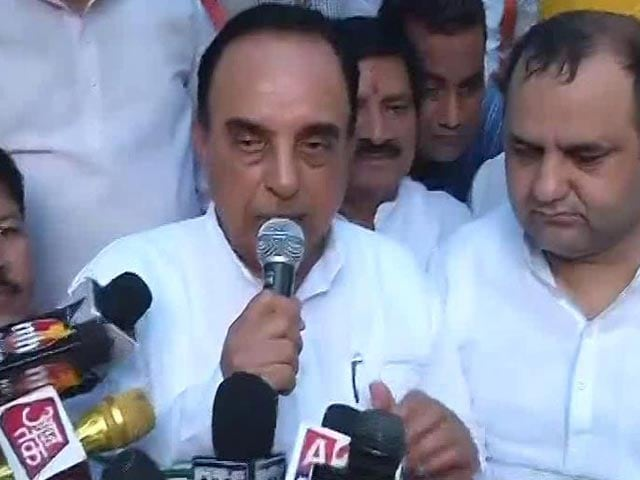 Video : 'Rajan Gone', Kejriwal Next: Subramanian Swamy Warns At BJP MP's Protest