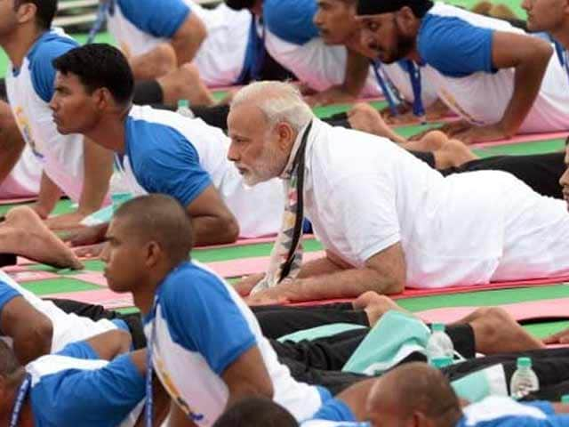 Video : PM Modi Leads Thousands At Mass Yoga Session In Chandigarh