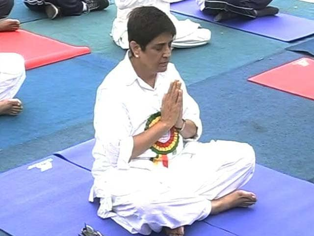 Video : Puducherry Cabinet Skips Governor Kiran Bedi's Yoga Day Session