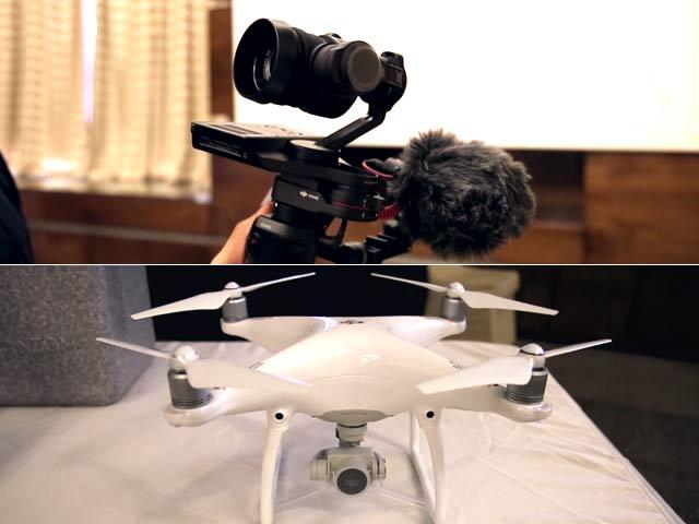 Video : DJI Phantom 4 Drone, Osmo RAW Camera: First Look