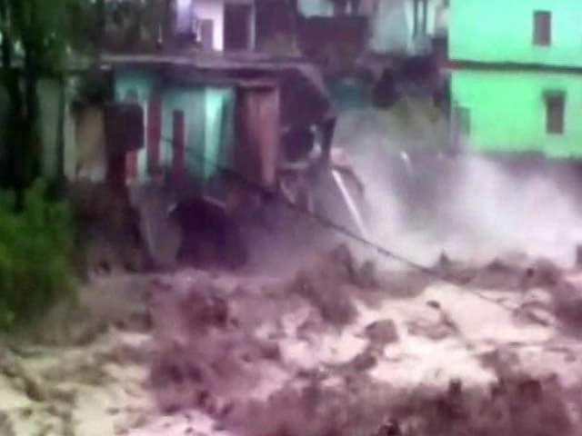Video : 10 Killed, Many Missing After Cloudburst, Landslides In Uttarakhand