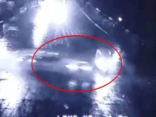 Video : Caught On Camera: Speeding BMW Of Rajasthan Leader's Son Rams Auto
