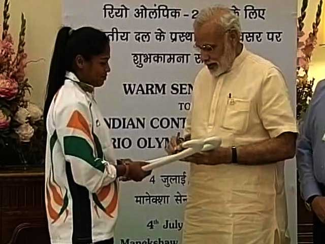Video : Prime Minister Narendra Modi Meets Rio Olympics-Bound Athletes