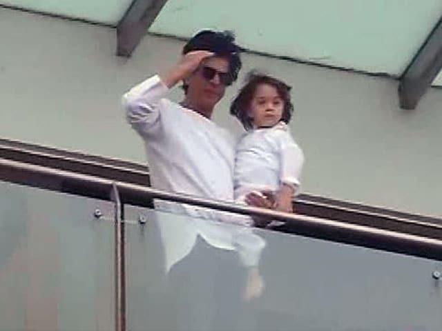 Eid Mubarak. Love, Shah Rukh and AbRam Khan
