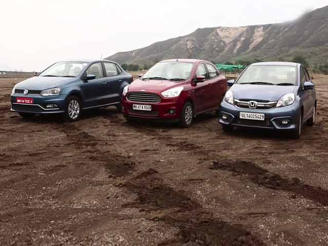 Video : Honda Amaze vs VW Ameo vs Figo Aspire