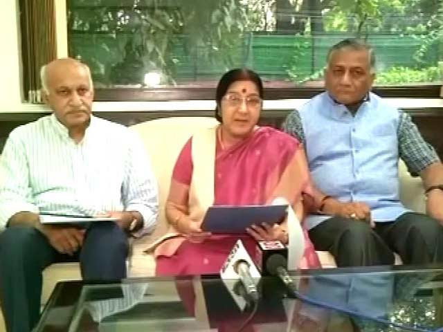 Video : Sushma Swaraj Slams Pak PM, Says 'All Of Kashmir Is India's'