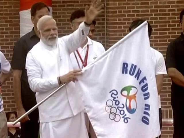 Video : PM Modi Flags Off 'Run For Rio', Says 'Indian Athletes Will Surely Shine'