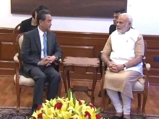 Video : Chinese Minister Meets PM Modi Amid Strained Ties Over Nuke Group (NSG) Bid