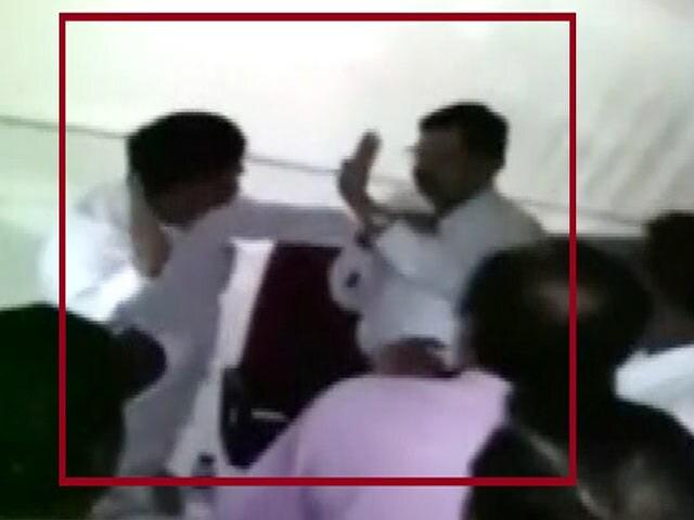Video : Legislator From Sharad Pawar's Party Filmed Slapping Official