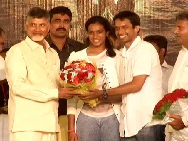 Video : PV Sindhu Felicitation: Andhra Wants World-Class Facilities For Badminton