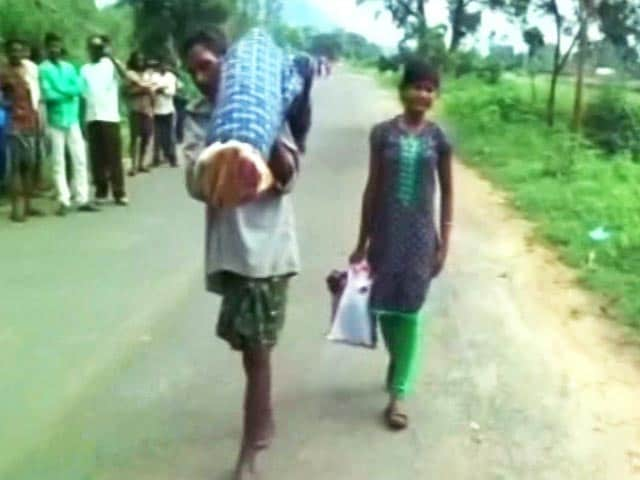 Odisha Man Carries Wife's Body 10 Km With Daughter