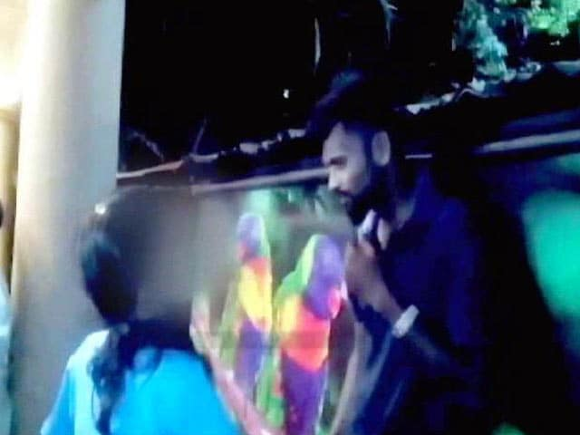 Video : On Camera, Pawar's Lawmaker Supervises Girl Thrashing Alleged Stalker