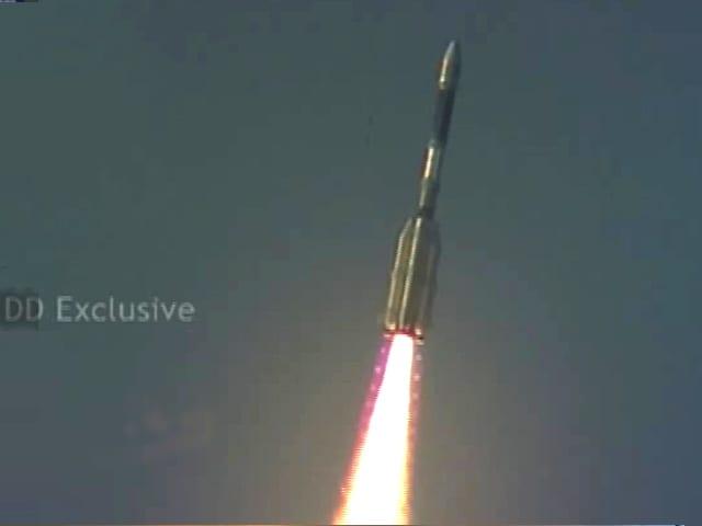 Video : इसरो की बड़ी उड़ान : 40 मिनट की देरी के बाद लॉन्च हुआ जीएसएलवी