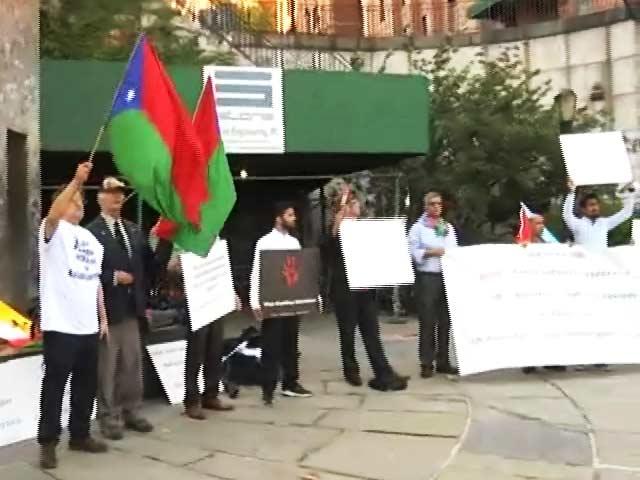 Video : बलूच प्रदर्शनकारियों ने पाकिस्तान के खिलाफ संयुक्त राष्ट्र के बाहर किया प्रदर्शन