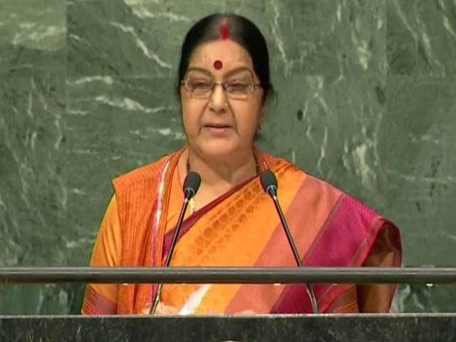 Video : Terrorism Is The Biggest Violation Of Human Rights: Sushma Swaraj At UN