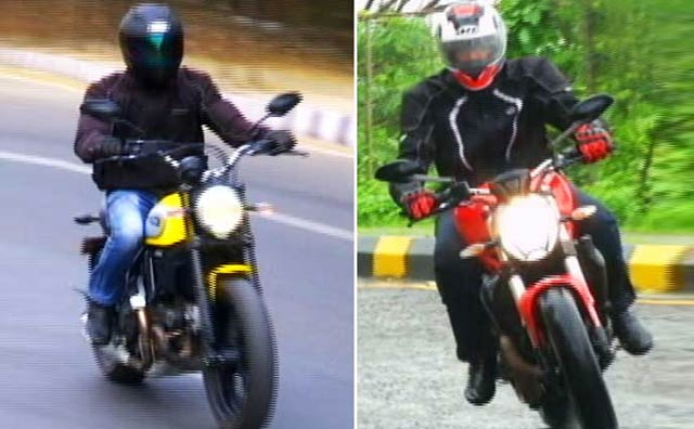Ducati Monster and Scrambler Compared