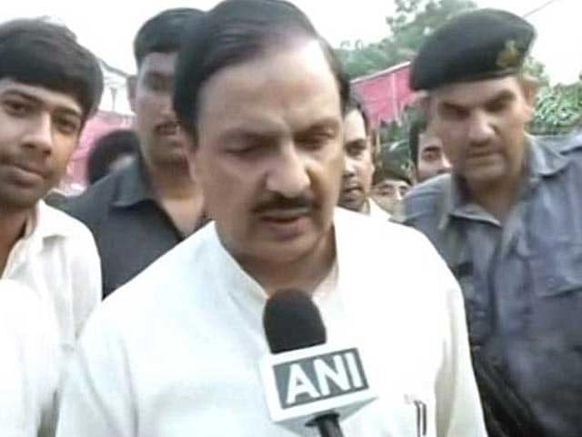 Video : Minister Mahesh Sharma Visits Murder Accused's Family In Tense Dadri