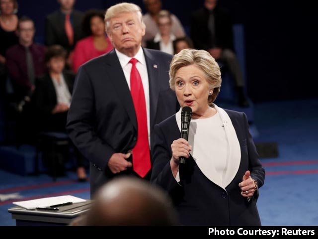 Video : Trump Threatens To Jail Hillary; She Attacks His Treatment Of Women