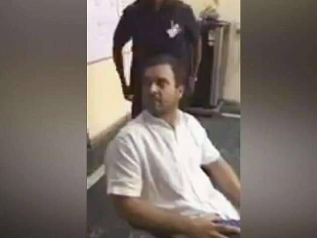 "Video : Watch: ""Have You No Shame,"" Rahul Gandhi Asks Cops In Row Over Veteran"