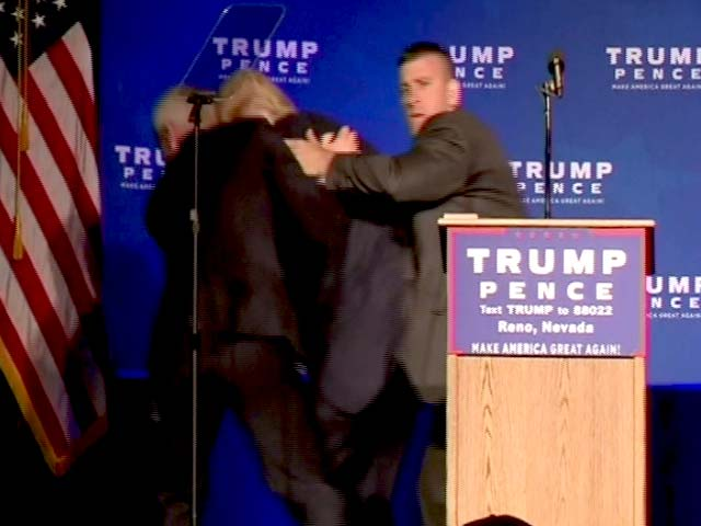 Video : Trump Rushed Off Stage By Secret Service Agents At Nevada Rally