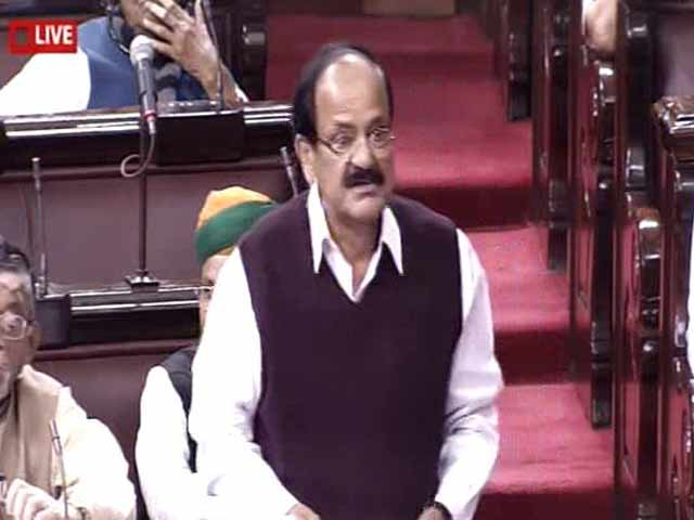 Video : Is Circulating Black Money Fundamental Right? Asks Venkaiah Naidu In Parliament