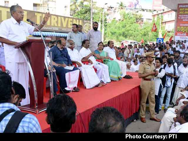 Video : Kerala Chief Minister Leads Protest Against Cash Ban Orders