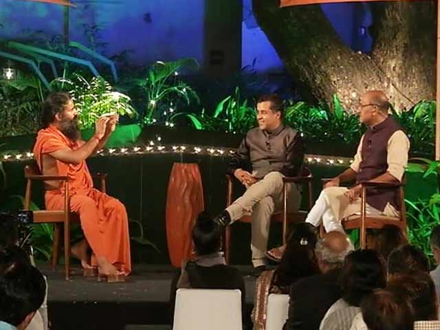 Video : Shekhar Gupta, Chetan Bhagat In Conversation With Yoga Guru Ramdev