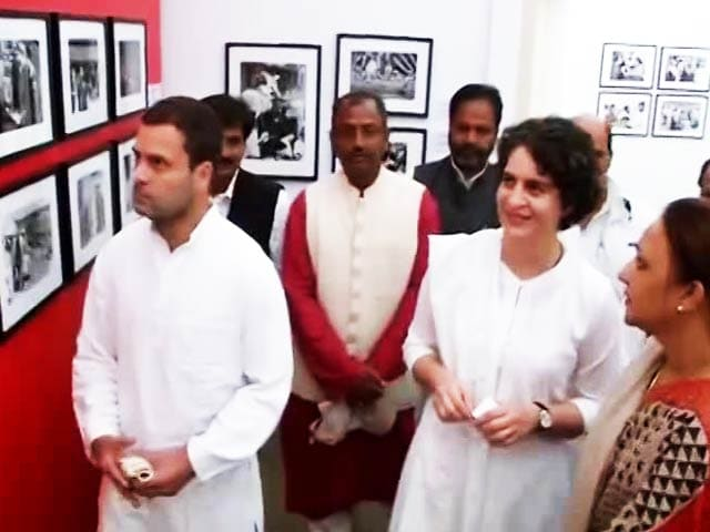 Video : Priyanka, Rahul By Her Side, Sonia Gandhi Salutes Indira's Courage