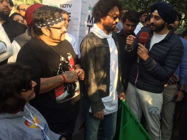 Video : Actor Irrfan Khan Speaks At Walkathon in Gurugram