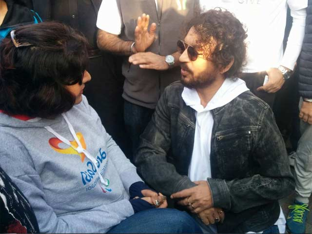 Video : Deepa Malik And Irrfan Khan At The More To Give Flag Off Event