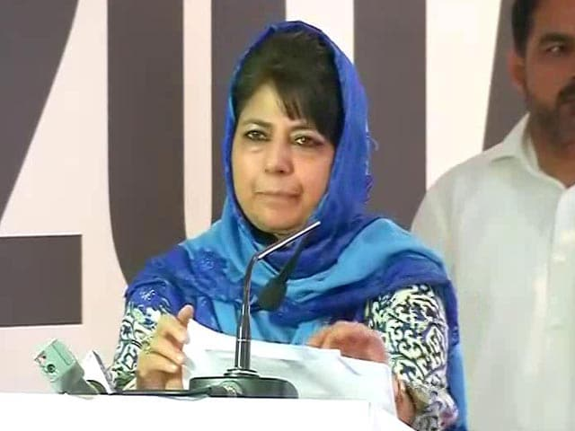 Video : Mehbooba Mufti Walks Out Of Cabinet Meeting After Rift With BJP Ministers