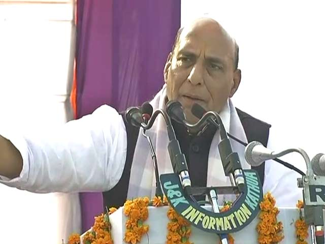 Video : Pakistan Conspiring To Divide India On Religious Lines, Says Rajnath Singh